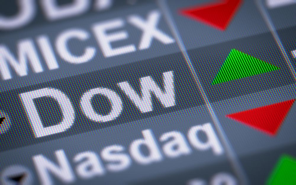 L'indice du Dow Jones à Wall Street.